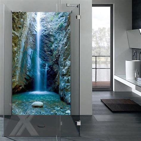 beleuchtete duschrückwand wandbild dusche glasbild duschr 252 ckwand esg glas