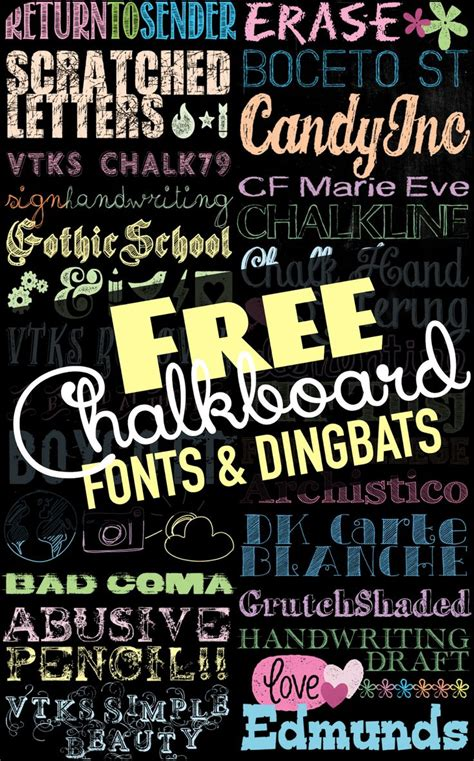 chalkboard diy fonts tons of free chalkboard fonts and dingbats u create