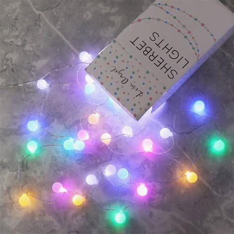 childrens led string lights mains powered led sherbet string lights by