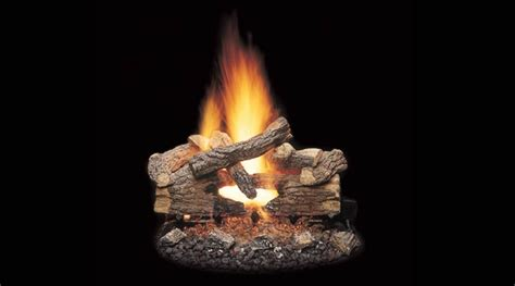 Remote Gas Fireplace Logs by Monessen 18 Quot Oak Vented Gas See Thru Log