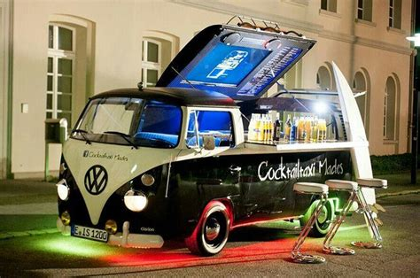 volkswagen kombi food truck vw volkswagen kombi transporter bus mobile cocktail