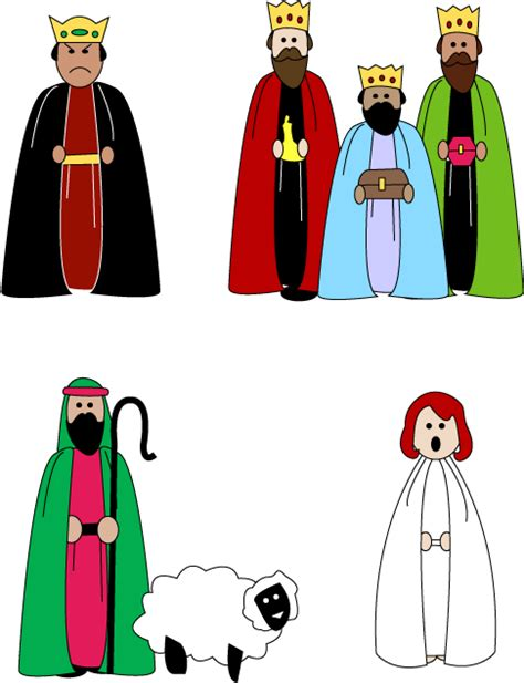 mormon share nativity cutouts