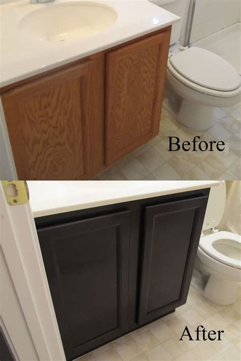 Diy Staining Kitchen Cabinets Staining Oak Cabinets An Espresso Color Diy Tutorial Stains Vanities And Cabinets