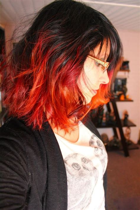 short hairstyles dyed red short red and orange dip dye this is actually gives me an