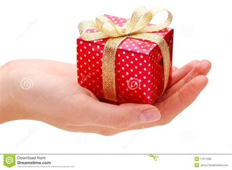 it gifts hand and gift royalty free stock image image 17211566