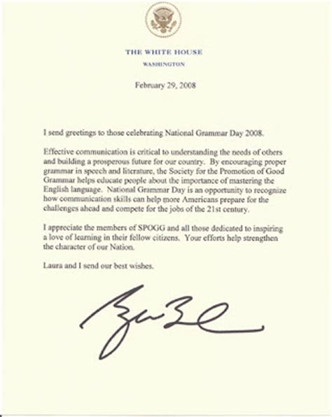 business letter via federal express the society for the promotion of grammar march 2008