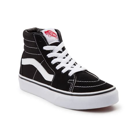 youth shoes youth vans sk8 hi skate shoe black 1499934