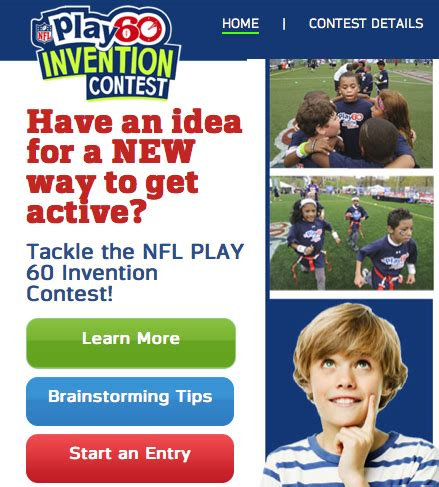 invention contest new nfl play 60 invention contest inspires to submit