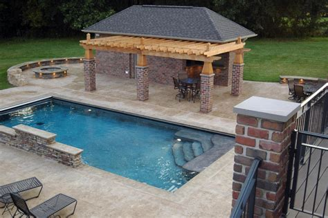 outdoor living mid state pools rectangle pool designs that will give you awesome swimming