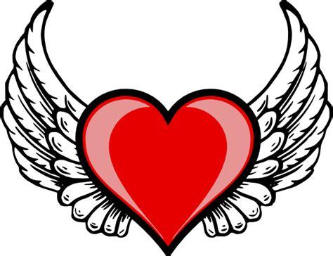 clipart fashion heart heart wing logo clip art vector clip art online royalty