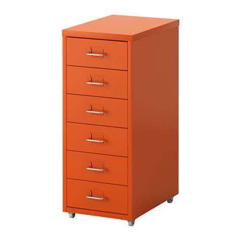 Drawer Unit Helmer Drawer Unit On Castors Orange Ikea