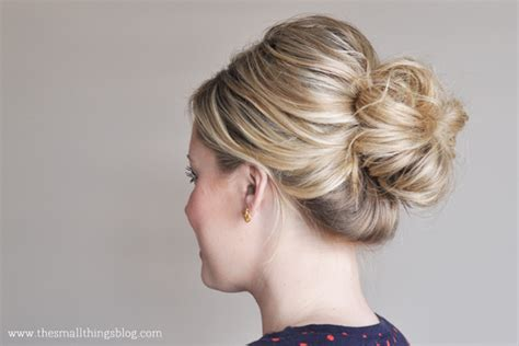 how to make a small bun with long box braids the mid knot tutorial the small things blog