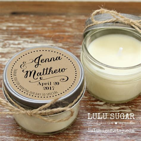 Wedding Favors Candles by Set Of 12 4 Oz Soy Candle Wedding Favors Label