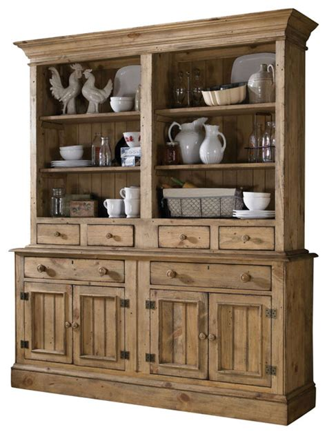Kincaid Homecoming Solid Wood Open Hutch With Buffet In Solid Wood Sideboards And Buffets