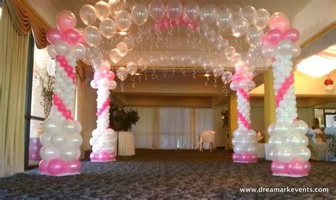 Dreamark events blog baby shower decor balloon arch canopy