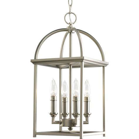 Lantern Pendant Lights Progress Lighting Tally Collection 4 Light Antique Bronze Foyer Pendant P3786 20 The Home Depot