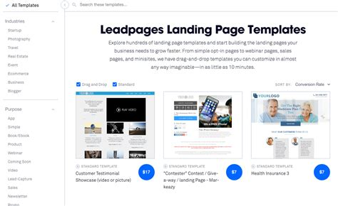 Comparatif Des Outils Pour Cr 233 Er Des Landing Pages Unbounce Vs Instapage Vs Leadpages Leadpages Landing Page Templates
