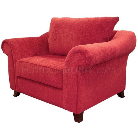 contemporary livng room chenille fabric new emperor u452 red