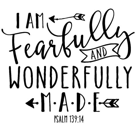 Different House Designs by Vinyl Decal Scripture Quot I Am Fearfully And Wonderfully Made