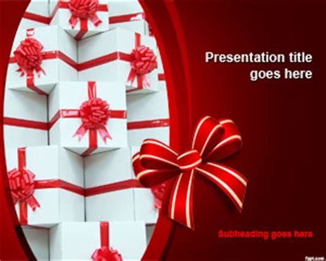Free Birthday Powerpoint Templates Free Powerpoint Templates Gift Powerpoint Template