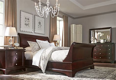 bedroom expressions springfield il whitmore cherry 8 pc king sleigh bedroom bedroom sets
