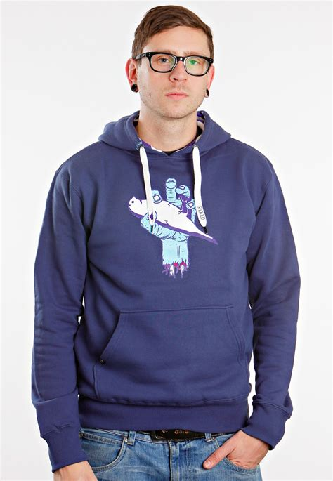 Hoodie Atticus atticus sliced pull navy hoodie impericon worldwide