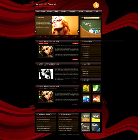 theme wordpress free creative free theme wordpress creative by amandhingra on deviantart
