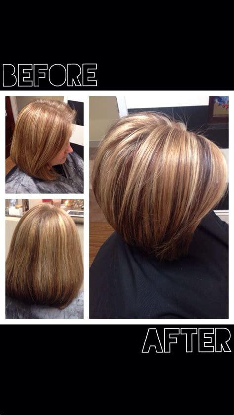 haircut before or after hair color salon bijou lake norman nc before and after short bob