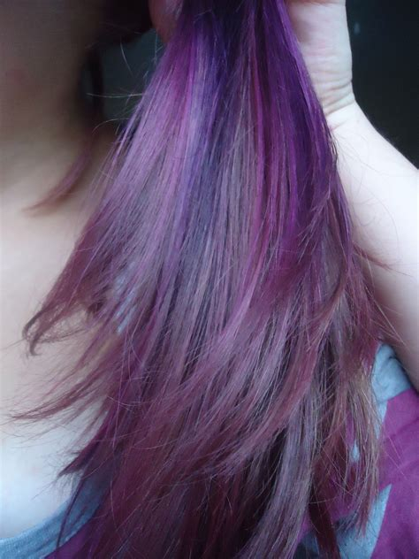 what purple hair dip dyed with black looks like dip dye hair purple short hairstyle 2013