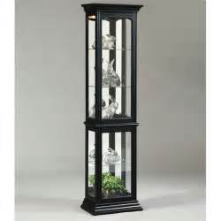 Black Curio Cabinet With Light Pulaski Black Curio Cabinet Ebay