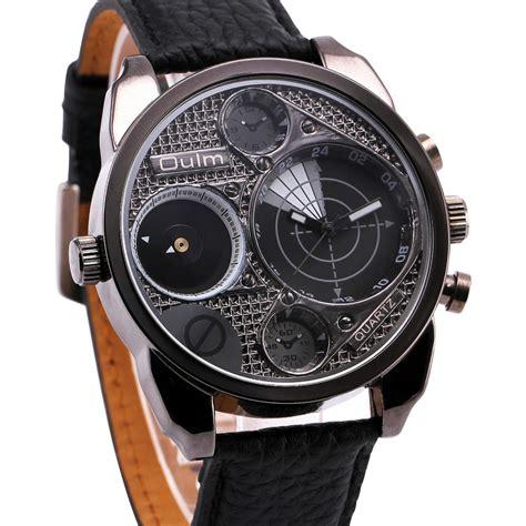 Desain Kemasan Jam Tangan | oulm jam tangan analog desain radar hp9316 black white