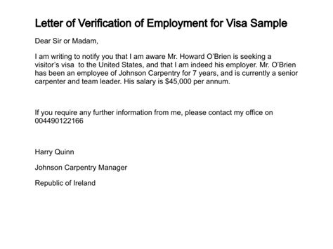 request for employment verification letter the letter sample