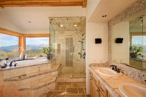 earth tone bathrooms bathroom traditional with recessed