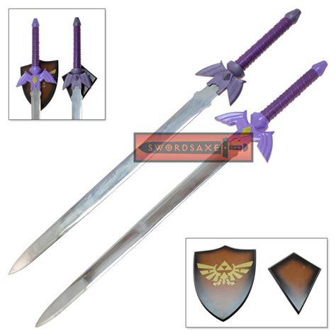 Kalung Metalic Sword 1 legend of true master sword set purple hilt goddess blessed tang steel swords