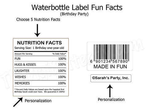 Fun Facts Display Png 750 215 578 Printable Label Tags Pinterest Printable Labels And Label Tag Birthday Nutrition Facts Label Template