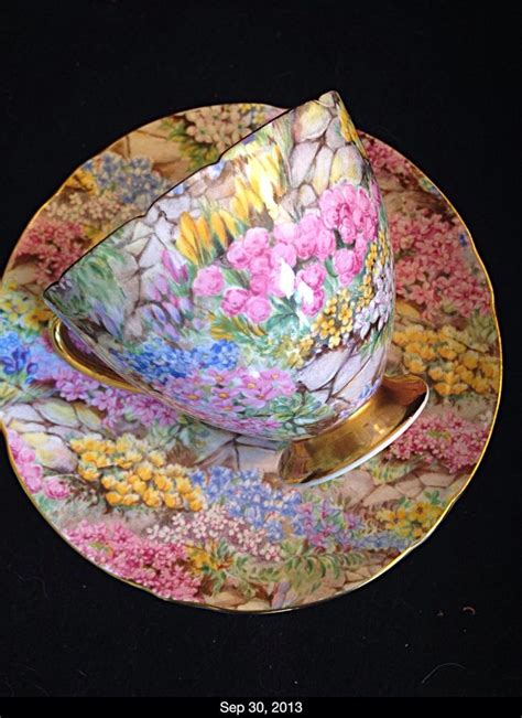 Shelley Rock Garden Shelley Rock Garden Gold Chintz Ripon Bone China Tea Cup And Saucer Mint Ebay