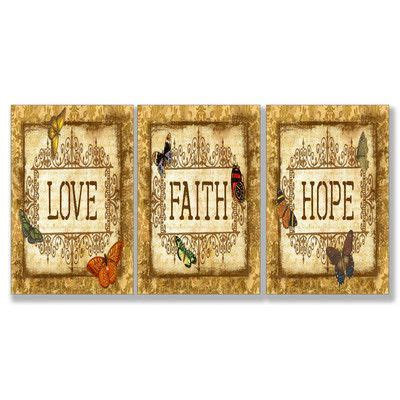 faith home decor home d 233 cor faith 3 textual set