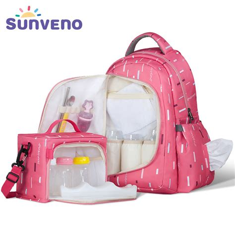 Fashion Bag 2in1 Bn8896 sunveno 2in1 bag fashion mummy maternity nappy bag baby travel backpack organizer nursing