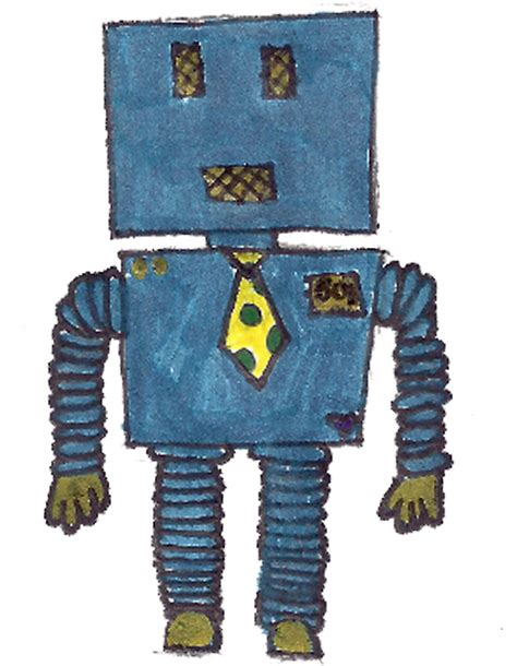 doodlebug drawing robot eri doodle designs and creations robot with tie doodle