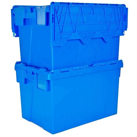 plastic containers for storage buy 25lt heavy duty plastic storage box with attached lid