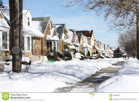 fotos chicago invierno vecindad nevado chicago foto de archivo imagen 13383430
