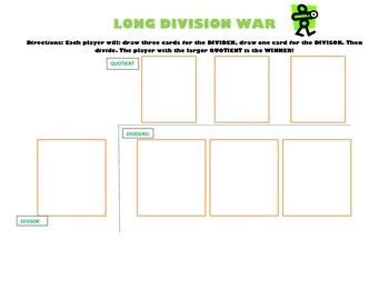 printable long division games print and laminate for students to use to play long
