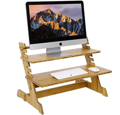 convert desk into standing desk 5 products that convert any seated office desk into a