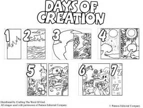 days of creation coloring pages creation 171 crafting the word of god