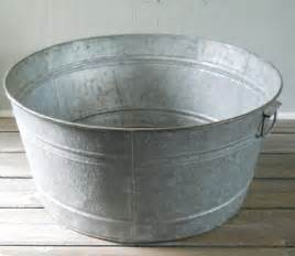 wash tub vintage galvanized wash tub large