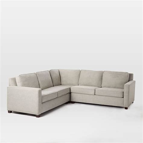 l sectionals henry 174 3 piece l shaped sectional west elm
