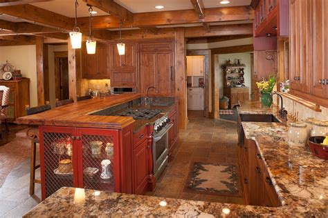Kitchens With Dark Wood Cabinets by Mullet Cabinet Rustic Kitchen Retreat