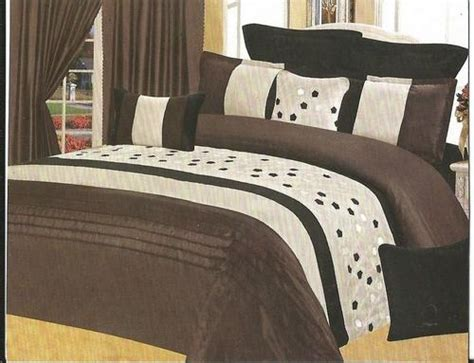 queen queen size comforter set brown black and sand