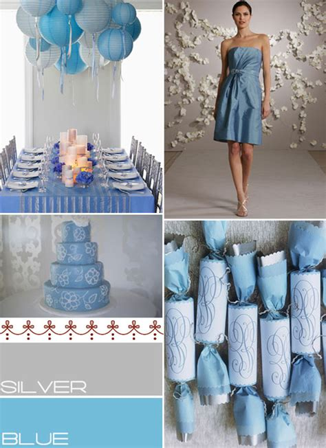 blue silver wedding colours palette baby blue silver wedding colours