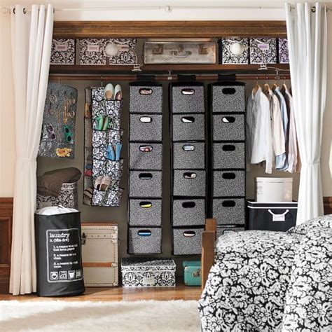 Hanging Storage Bins For Closets 17 Best Ideas About Hanging Closet On Hanging